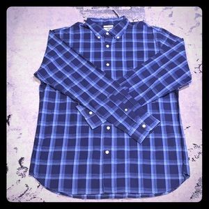 Old Navy Slim fit blue plaid shirt Large. Never W